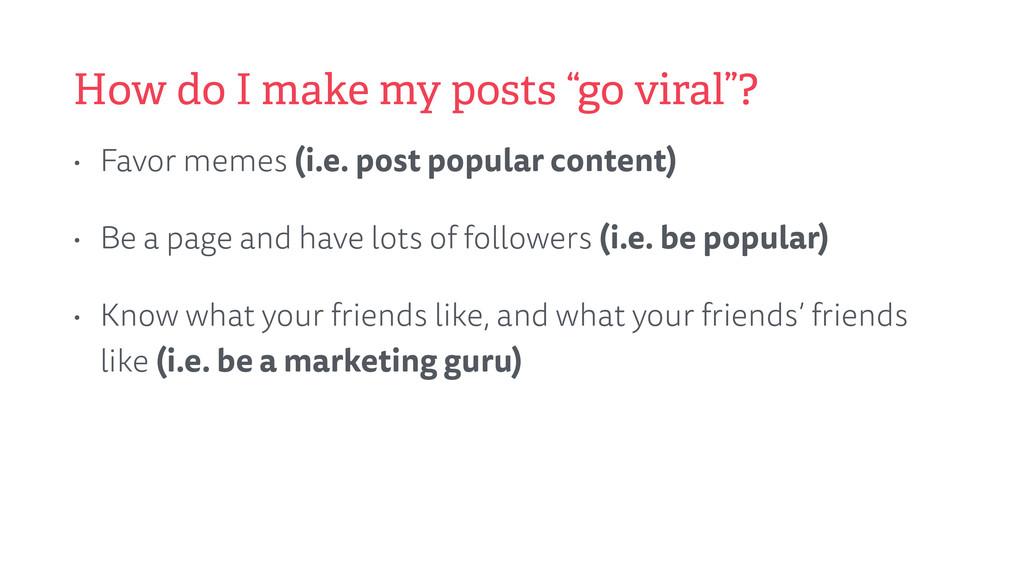 """How do I make my posts """"go viral""""? • Favor meme..."""