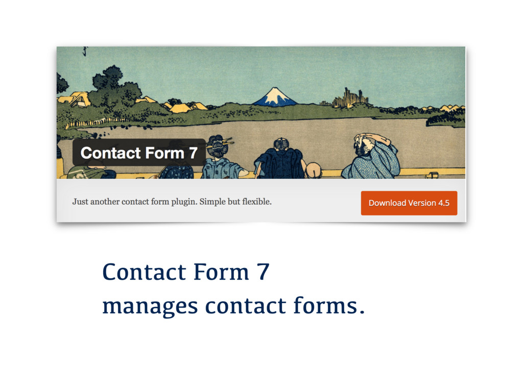 Contact Form 7 manages contact forms.