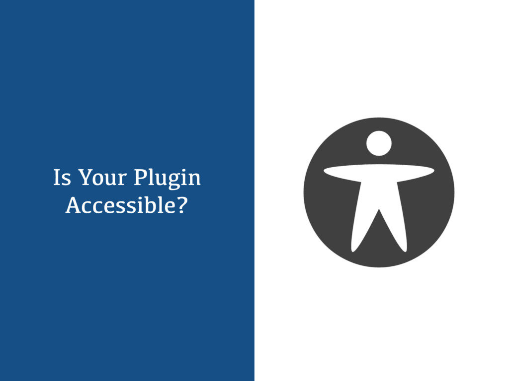 Is Your Plugin Accessible?