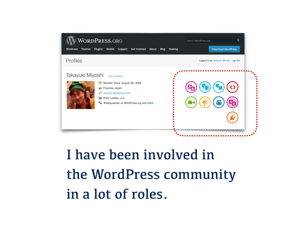 I have been involved in the WordPress community...