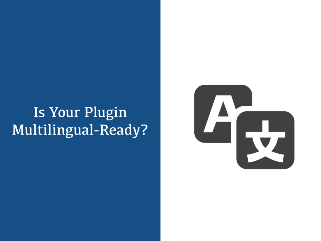 Is Your Plugin Multilingual-Ready?