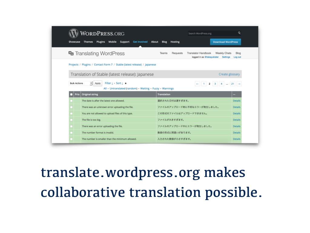 translate.wordpress.org makes collaborative tra...