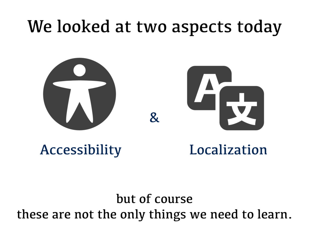 We looked at two aspects today but of course th...