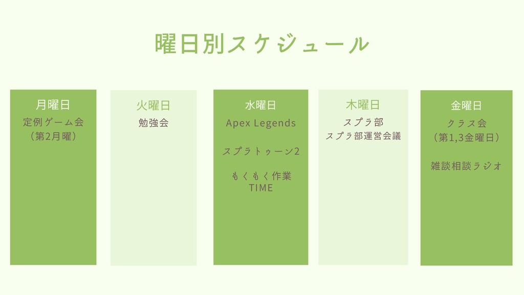 定例ゲーム会 (第2月曜) 月曜日 Apex Legends スプラトゥーン2 もくもく作業 ...
