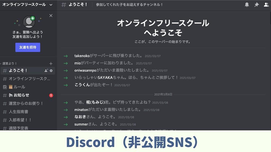 Discord(⾮公開SNS)