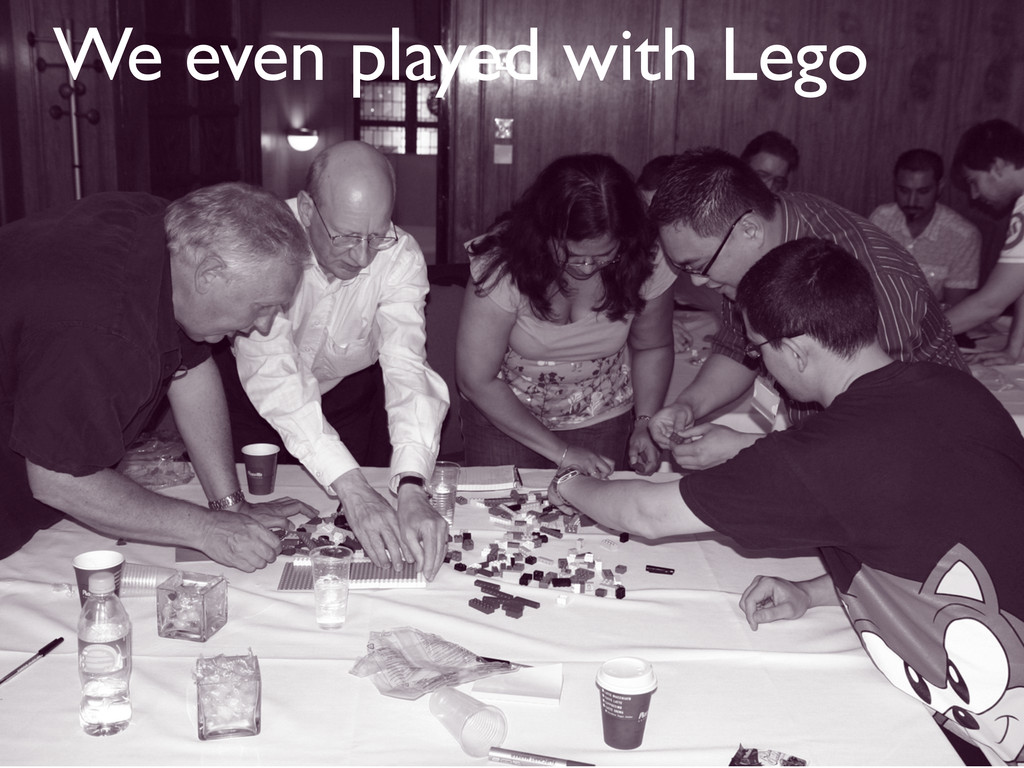 We even played with Lego