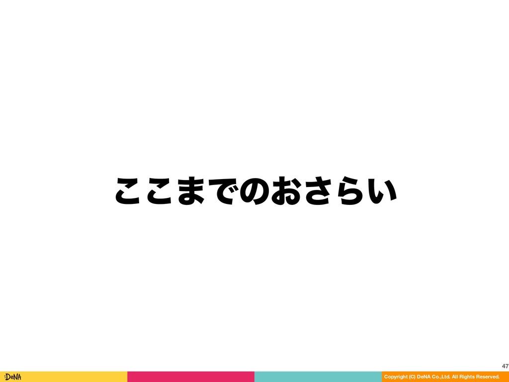 ͜͜·Ͱͷ͓͞Β͍ 47 Copyright (C) DeNA Co.,Ltd. All Ri...