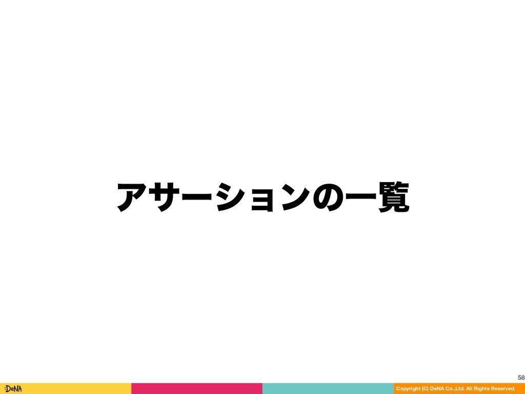 ΞαʔγϣϯͷҰཡ 58 Copyright (C) DeNA Co.,Ltd. All Ri...
