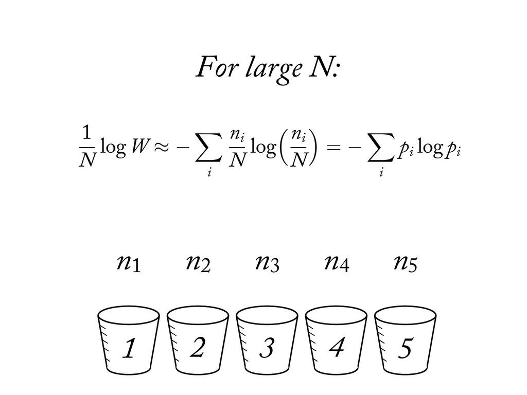 1 2 3 4 5 n1 n2 n3 n4 n5 For large N:  = ! (g...