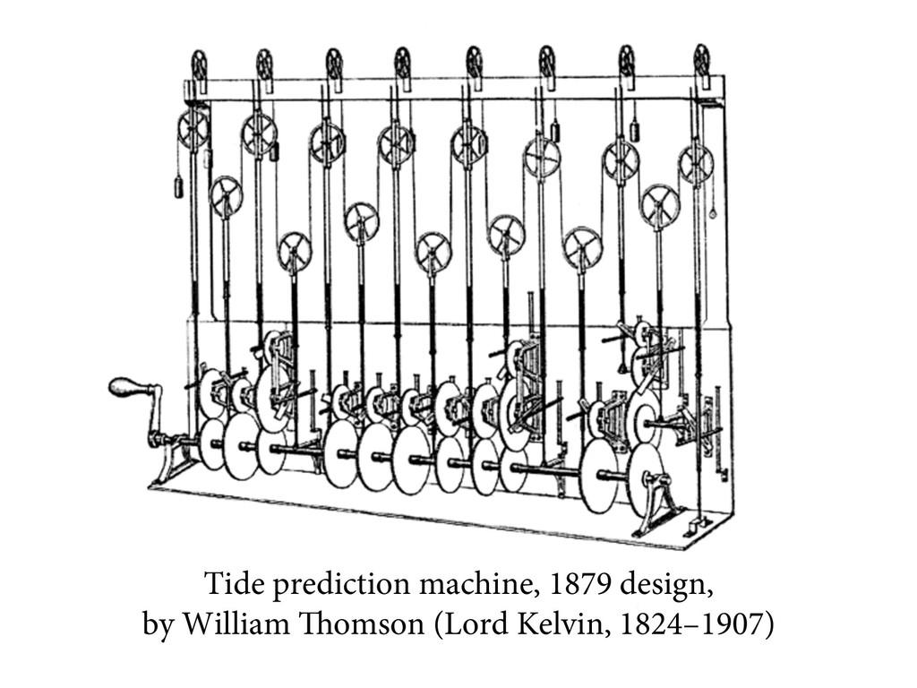 Tide prediction machine, 1879 design, by Willia...