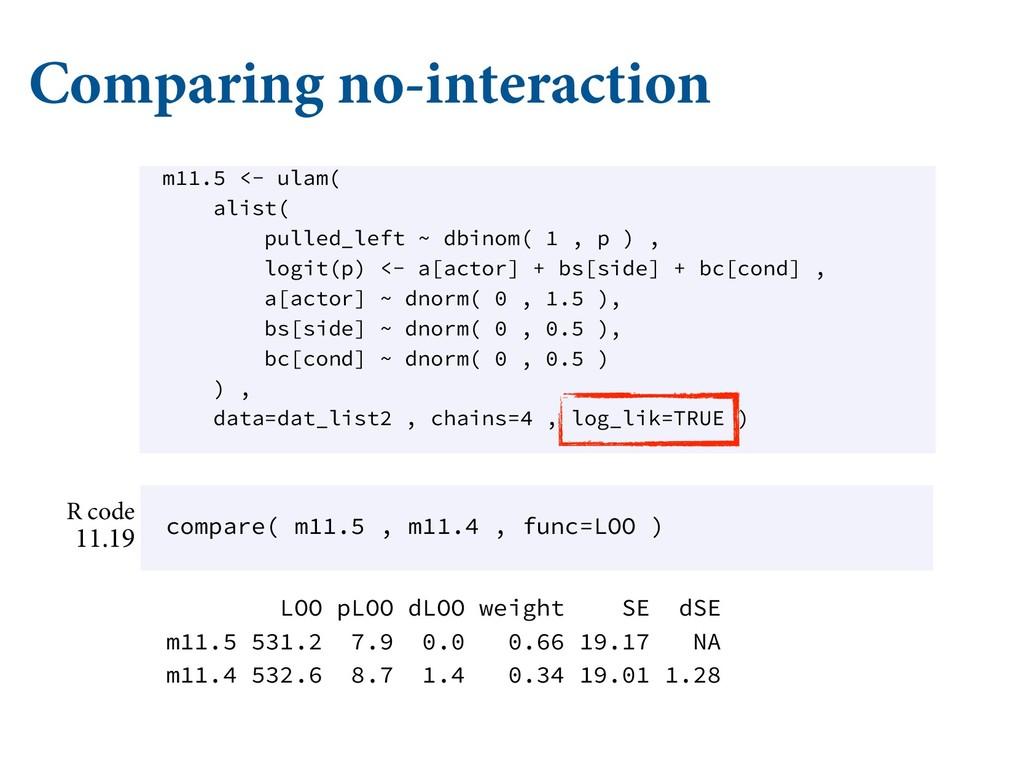 Comparing no-interaction .$ ʙ ɶ.$ Ǣ *) ʙ ...