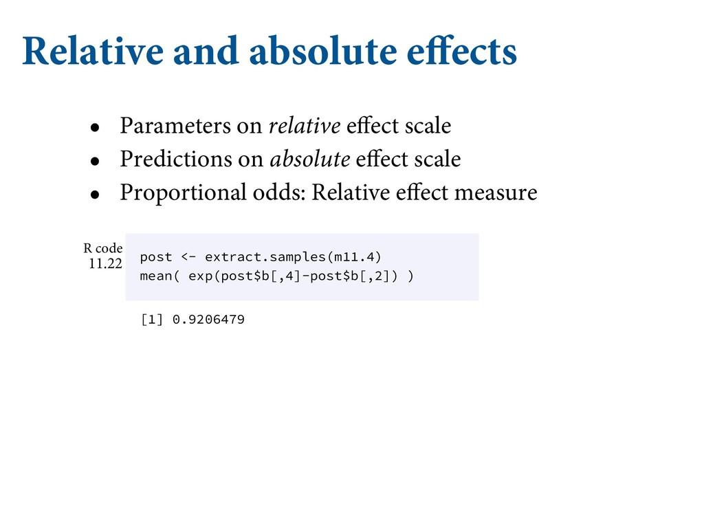 Relative and absolute effects • Parameters on r...