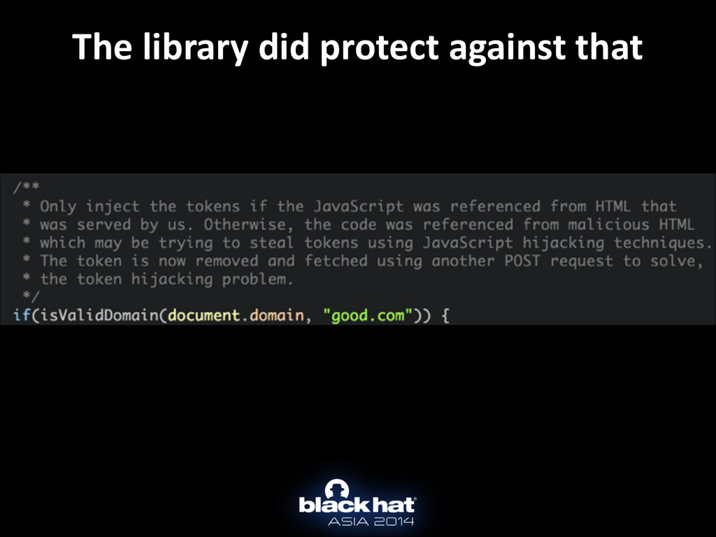 The library did protect against ...