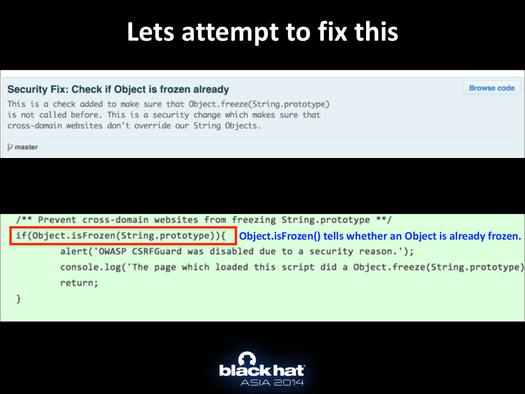 Lets attempt to fix this Object.isF...