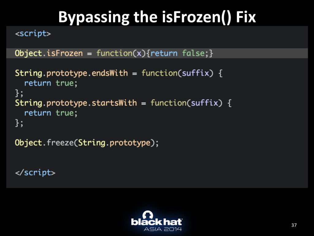 37 Bypassing the isFrozen() Fix