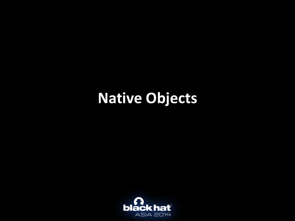 Native Objects