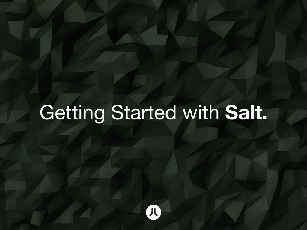 Getting Started with Salt.