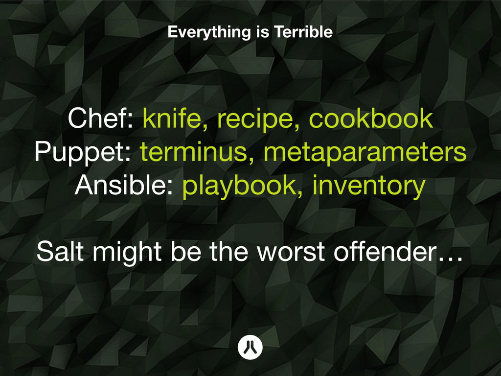 Everything is Terrible Chef: knife, recipe, coo...
