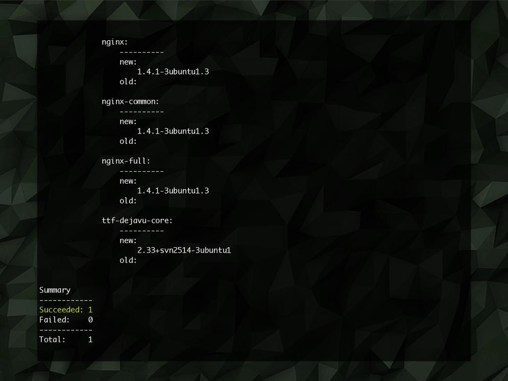 nginx: ---------- new: 1.4.1-3ubuntu1.3 old: ng...