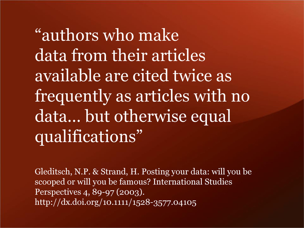 """""""authors who make data from their articles avai..."""