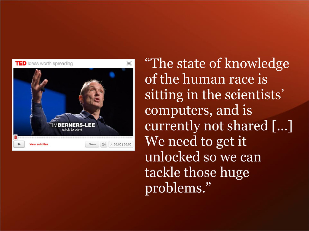 """""""The state of knowledge of the human race is si..."""
