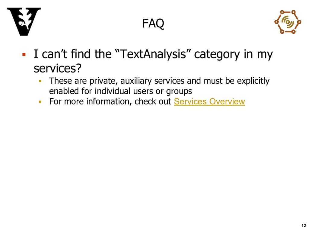 """FAQ ▪ I can't find the """"TextAnalysis"""" category ..."""