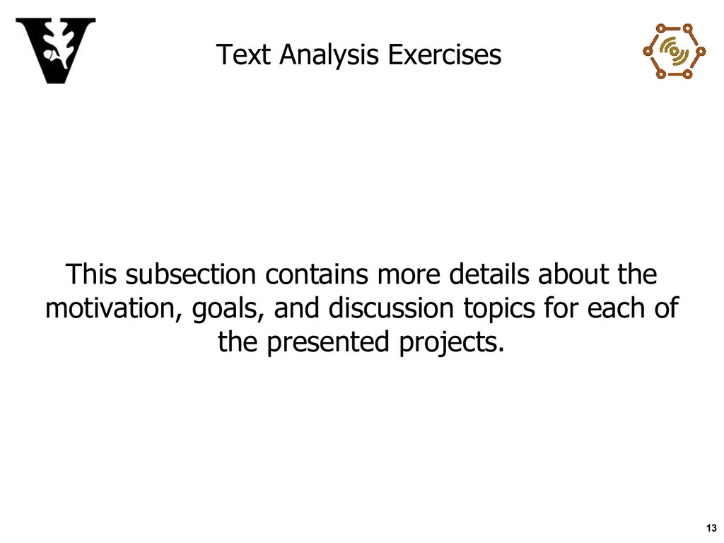Text Analysis Exercises This subsection contain...
