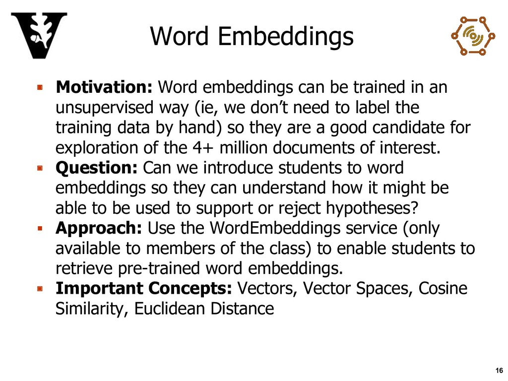 Word Embeddings ▪ Motivation: Word embeddings c...