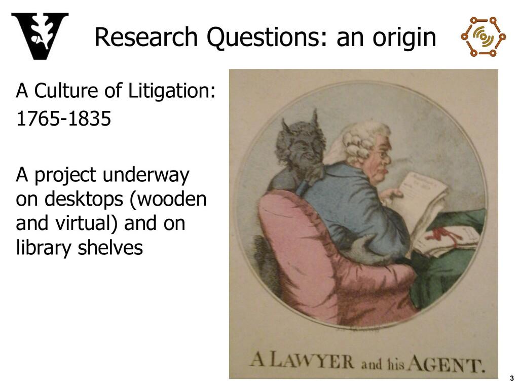 Research Questions: an origin A Culture of Liti...