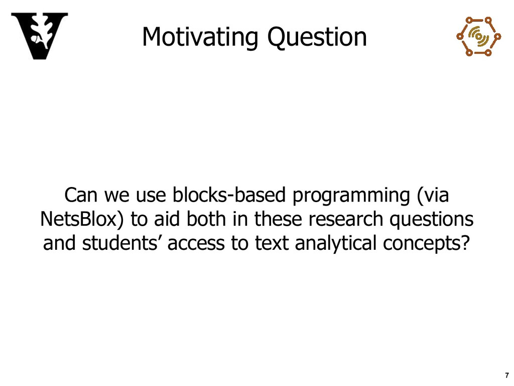Motivating Question Can we use blocks-based pro...