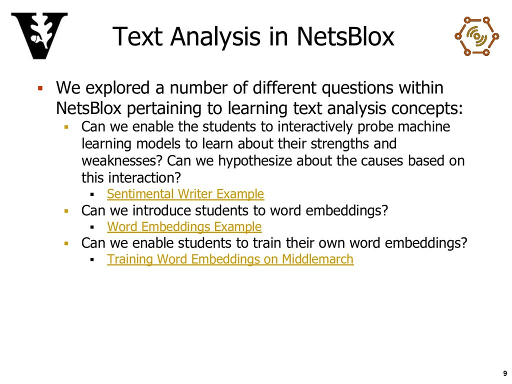 Text Analysis in NetsBlox ▪ We explored a numbe...