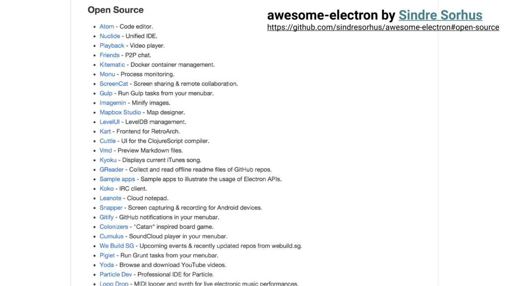awesome-electron by Sindre Sorhus https://githu...