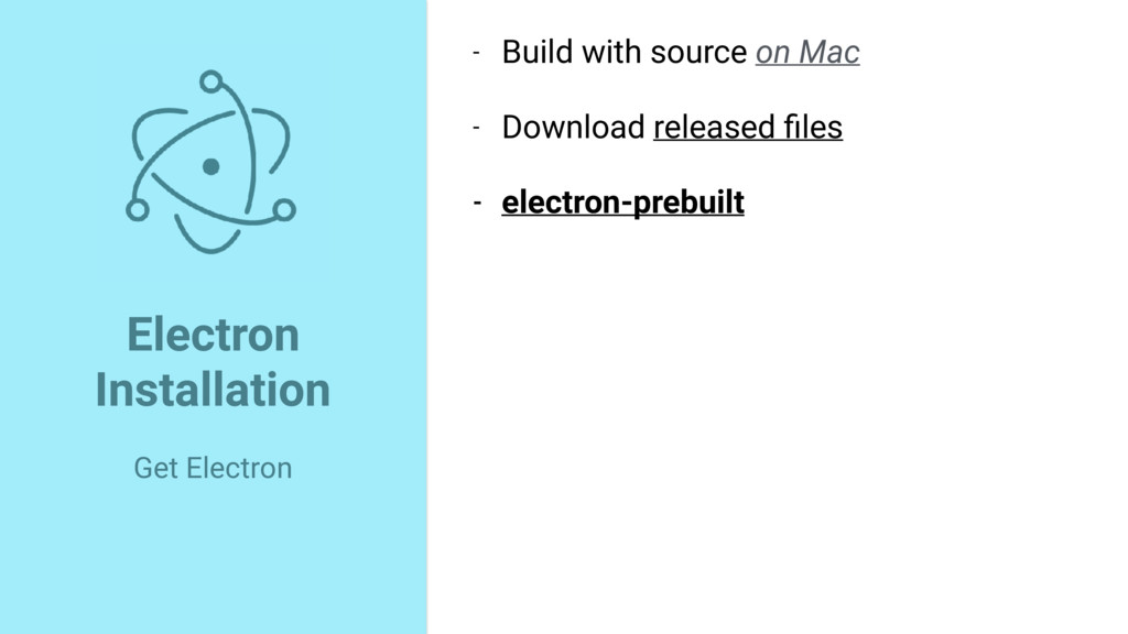 Electron Installation Get Electron - Build with...