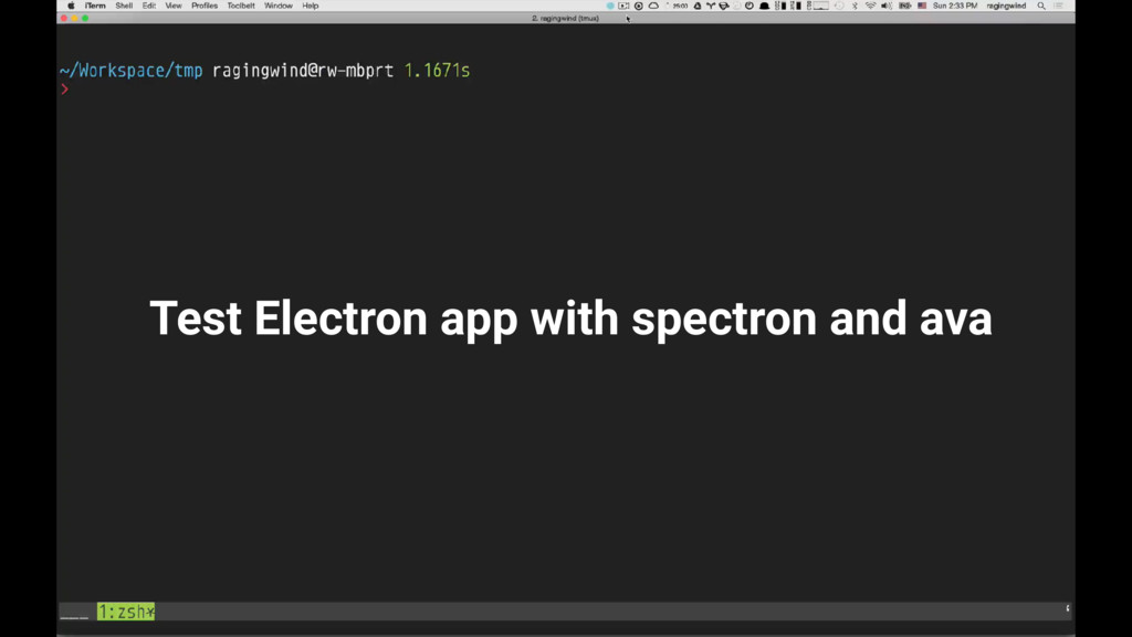 Test Electron app with spectron and ava
