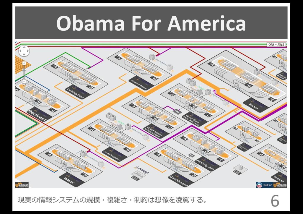 Obama For America 6 現実の情報システムの規模・複雑さ・制約は想...