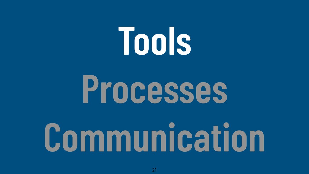 @WillingCarol Tools Processes Communication 21