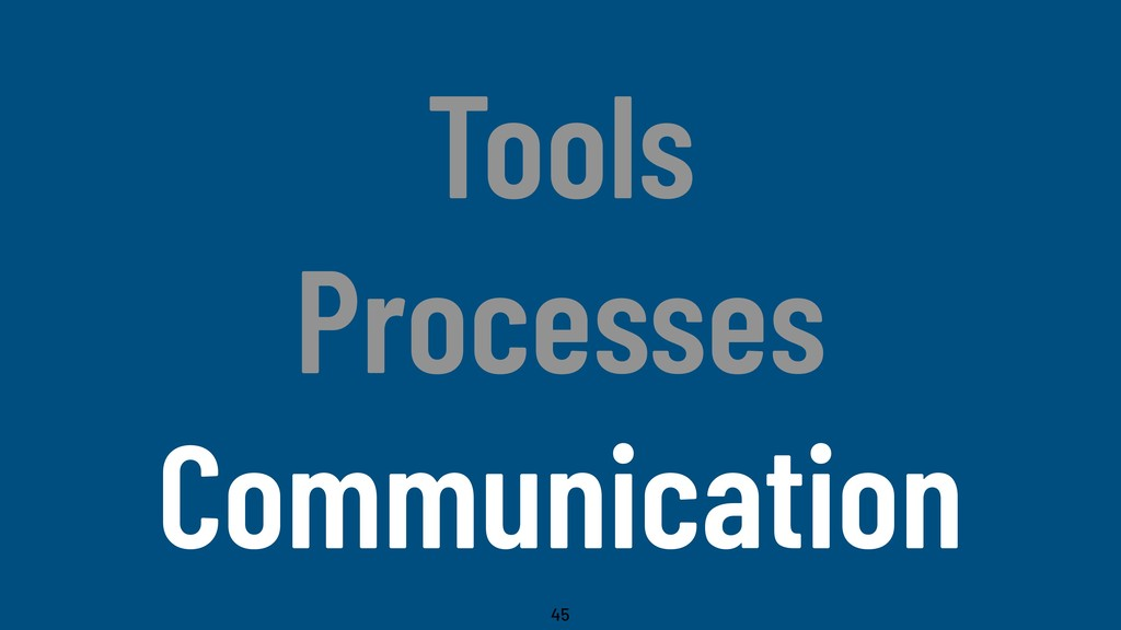 @WillingCarol Tools Processes Communication 45
