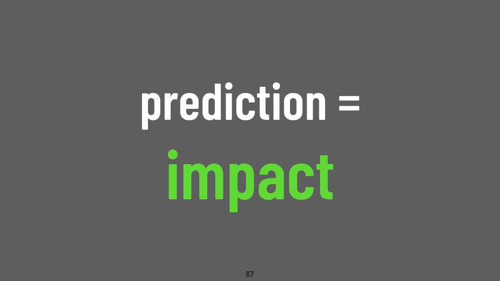 @WillingCarol prediction = impact 67