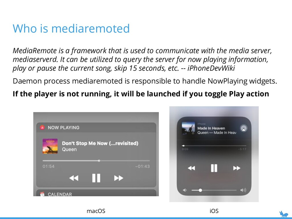 Who is mediaremoted iOS macOS MediaRemote is a ...