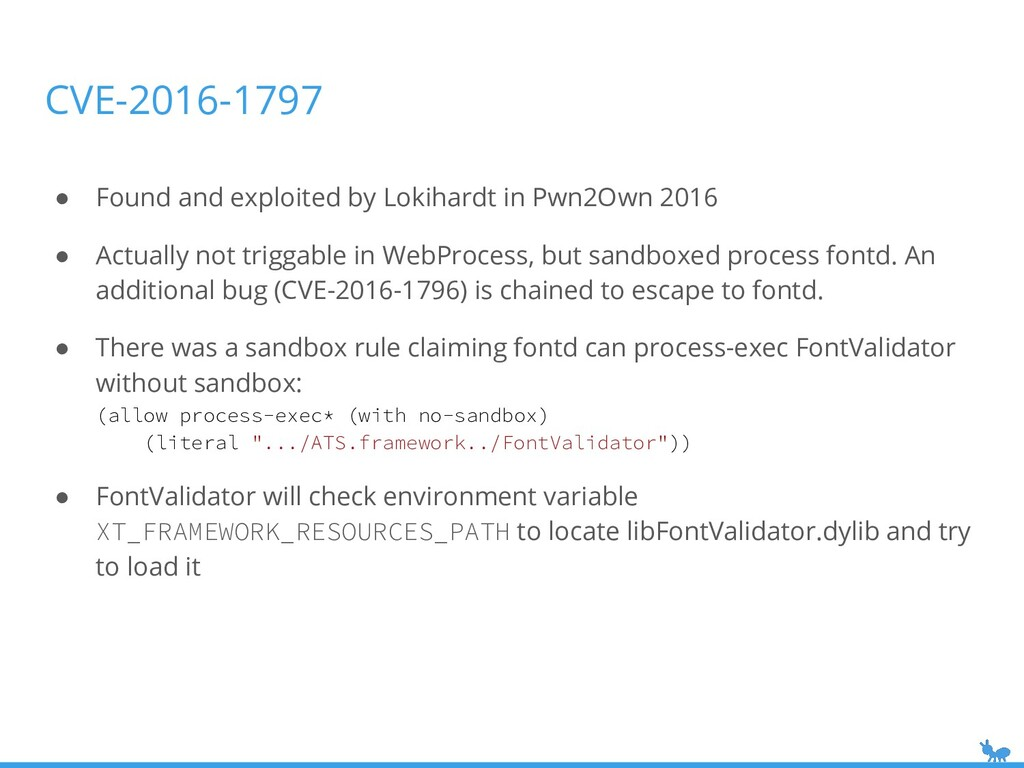 ● Found and exploited by Lokihardt in Pwn2Own 2...