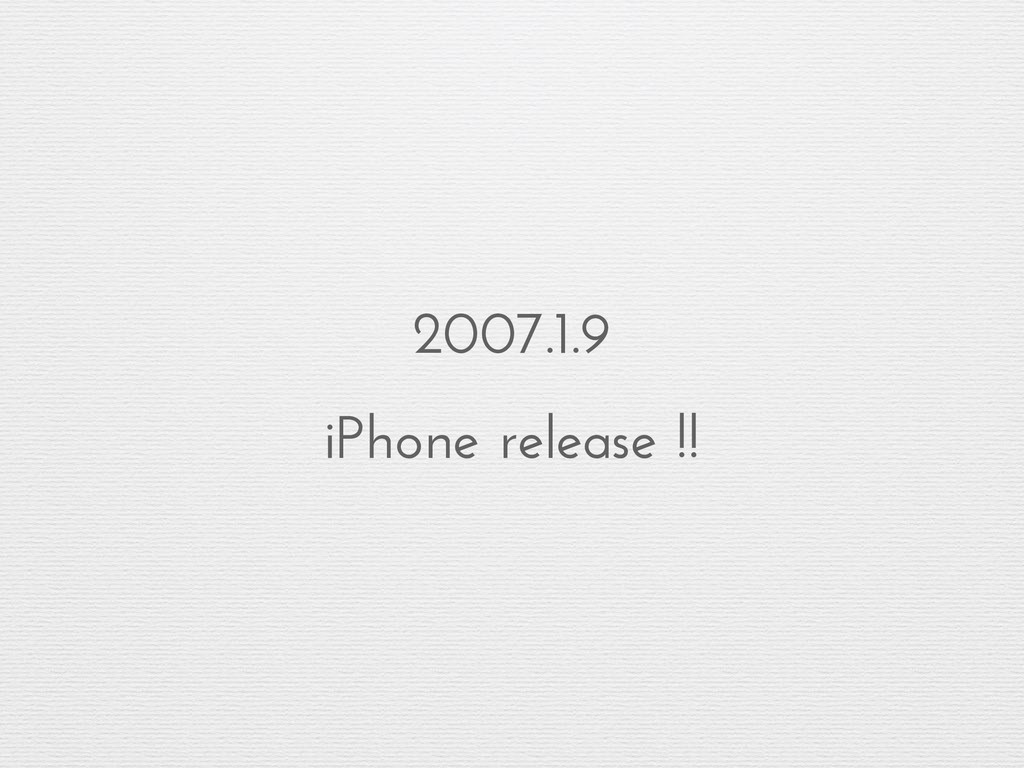 2007.1.9 iPhone release !!