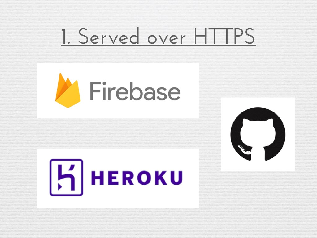 1. Served over HTTPS