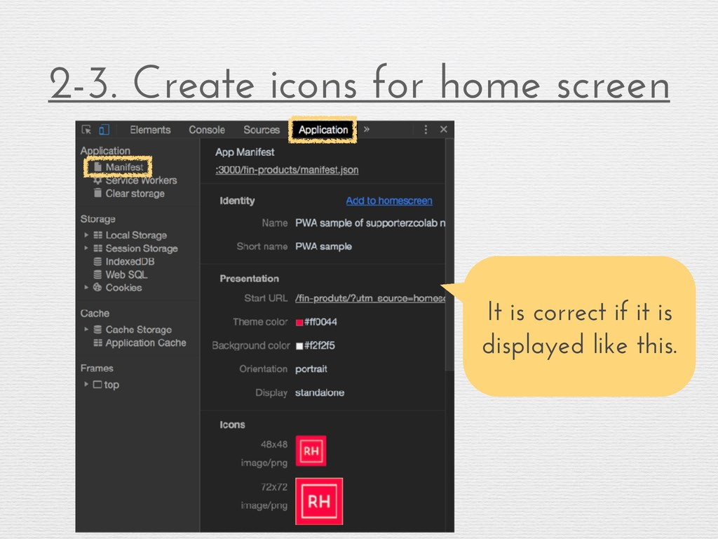 2-3. Create icons for home screen It is correct...