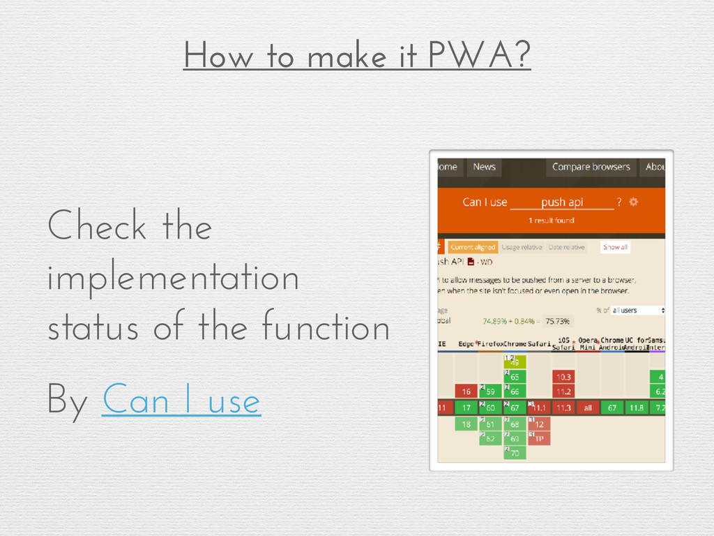 How to make it PWA? Using Lighthouse (implement...
