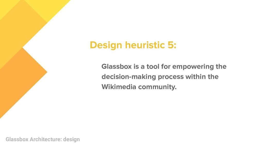 Glassbox Architecture: design Glassbox is a too...