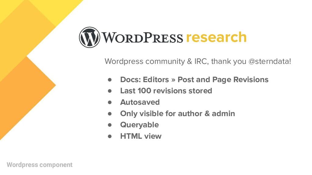 Wordpress community & IRC, thank you @sterndata...