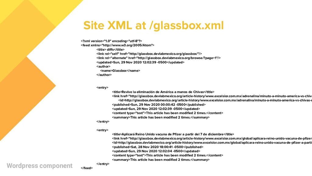 "Wordpress component <?xml version=""1.0"" encodin..."
