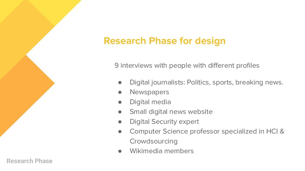Research Phase 9 interviews with people with di...
