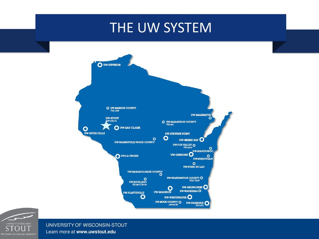 THE UW SYSTEM UNIVERSITY OF WISCONSIN-STOUT Lea...