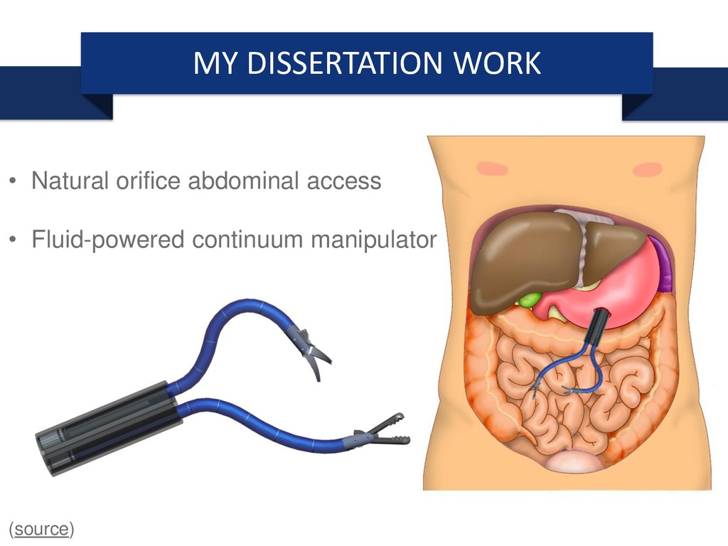 MY DISSERTATION WORK • Natural orifice abdomina...